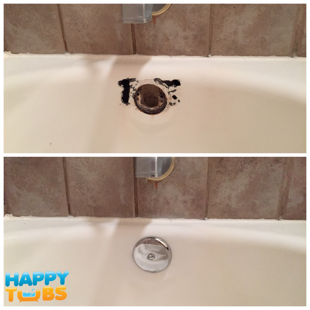 Bathtub rust repair in Plano, TX by Happy Tubs