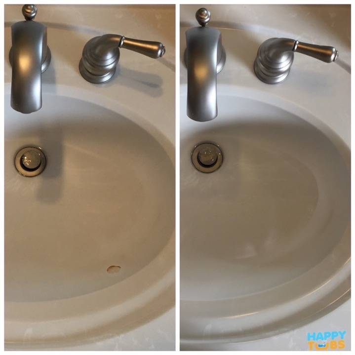 Sink Chip Repair in McKinney, TX