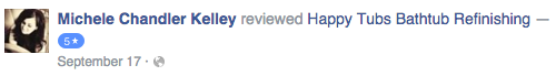 Michele K facebook review