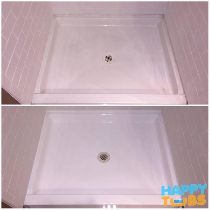 Shower Pan Refinishing In Dallas Tx Happy Tubs Bathtub