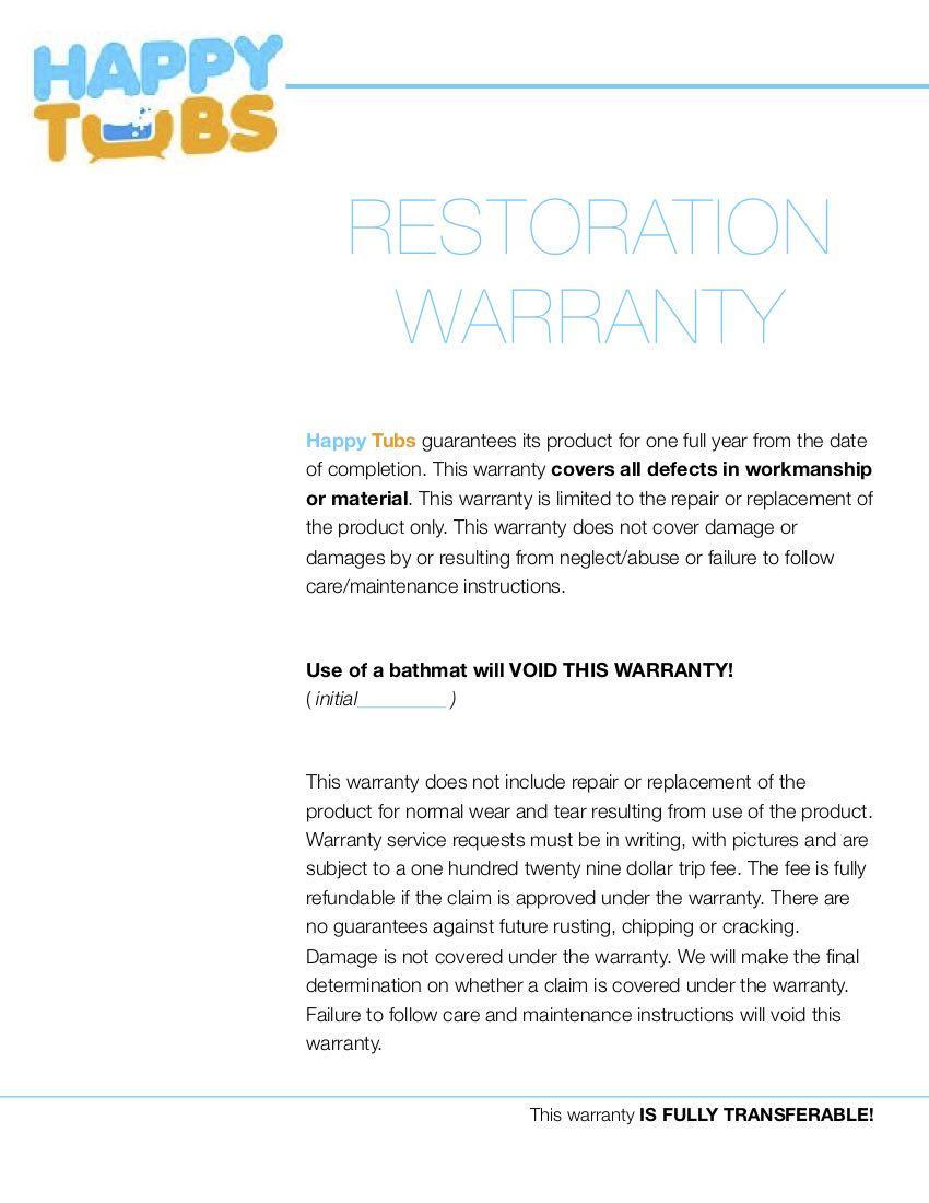 Restoration Warranty